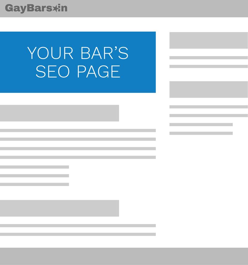 SEO Landing Page on GayBarsIn