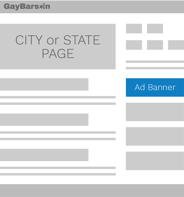 Sidebar City or State Page Placement Gay Bars